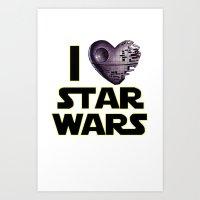 Love Star Wars  Art Print