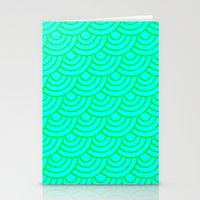 THE SEAS ROLL BLUE Stationery Cards