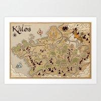 Kalos Map Art Print