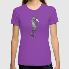Happy Hippocampus Womens Fitted Tee Ultraviolet SMALL
