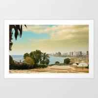Tel Aviv Coastline  Art Print