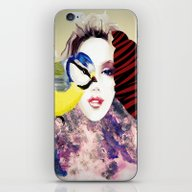 iPhone & iPod Skin featuring Face by Cs025