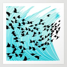 bird wrap Art Print