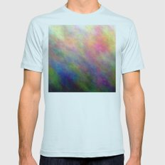 SupermanAbstract Mens Fitted Tee Light Blue SMALL