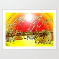Sun  Dune Art Print