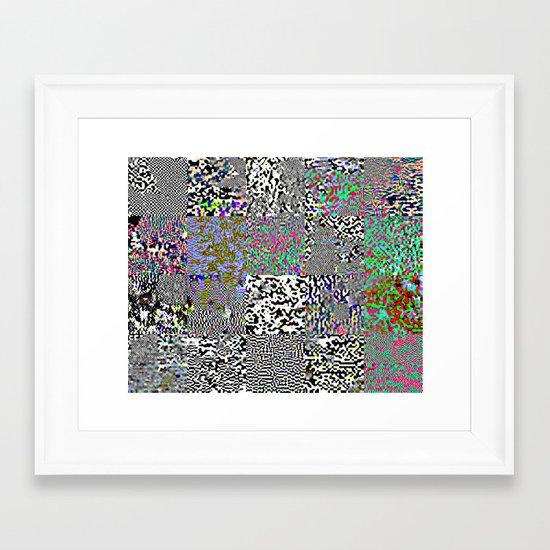 tiles Framed Art Print