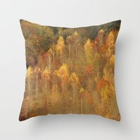 Trees On Box Hill Surrey Throw Pillow