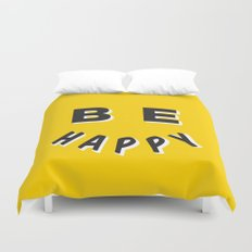 Be Happy Smiley Duvet Cover
