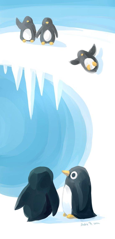 Penguin Playground Canvas Print