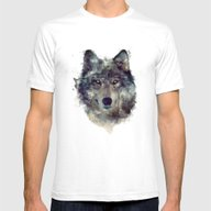 Wolf // Persevere  Mens Fitted Tee White MEDIUM
