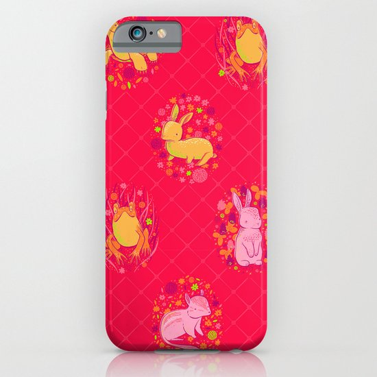Picnic Pals animals in strawberry iPhone & iPod Case