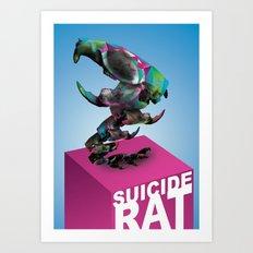 Suicide rat Art Print