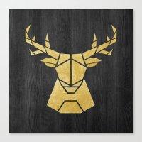 Geometry Of A Deer Canvas Print