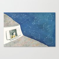Dreamy night Canvas Print