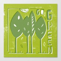 Go Green Canvas Print