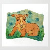 Frank The Puppy Art Print