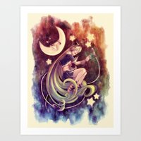 The Moon And The (Rock)S… Art Print