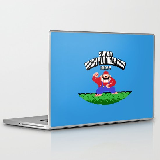 Super Angry Plumber Man Laptop & iPad Skin
