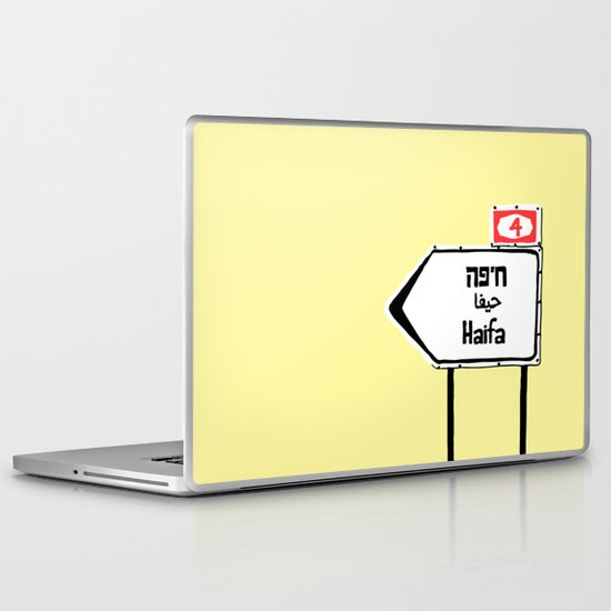 Haifa This Way Laptop & iPad Skin