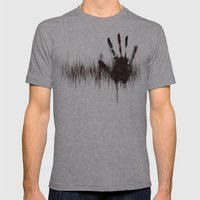 White Noise Mens Fitted Tee Athletic Grey SMALL