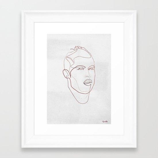 One line Cristiano Ronaldo Framed Art Print