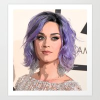 Lavender Hair  Art Print