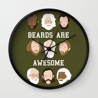 Beards Are Awesome Wall Clock