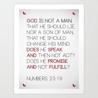 Not a Man Art Print