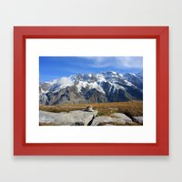 Trail Blazing The Alps Framed Art Print