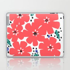Big Red Flowers Laptop & iPad Skin