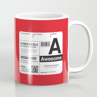 My Blood Type Is A, For … Mug