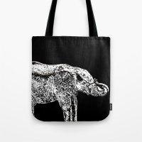 Elephant Black Tote Bag