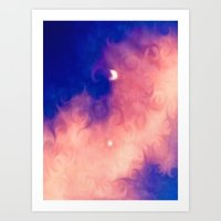 Moon in a Pink Cloud Art Print