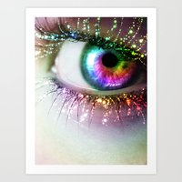 Rainbow Siren Art Print