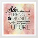 Proverbs 31 She is...  Art Print