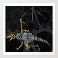 Clockwork Dragon Art Print