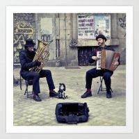 Madrid Street Musicians Art Print