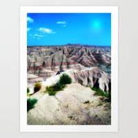 Badlands National Park, South Dakota Art Print