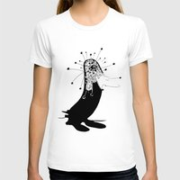 Magic Penguin Womens Fitted Tee White SMALL