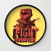 FIGHT EVERYDAY Wall Clock