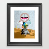 Desert Of Knowledge Framed Art Print