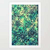 Drawing Flowers - for iphone Art Print