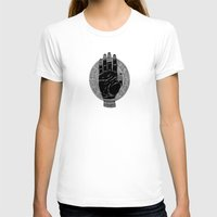 Hand Womens Fitted Tee White SMALL