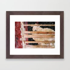 virgin wool Framed Art Print
