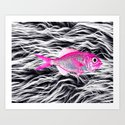 Fish on Fur VII Art Print