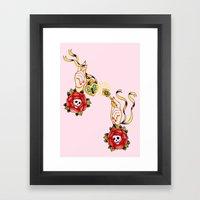 Key To Muh Heart Framed Art Print