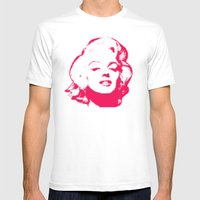 MARILYN POP Mens Fitted Tee White SMALL