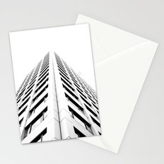 Keep Your Aim High (White Symmetry) Stationery Cards