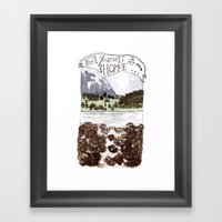 Feel Yourself At Home Framed Art Print