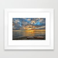 Seat with a View Framed Art Print